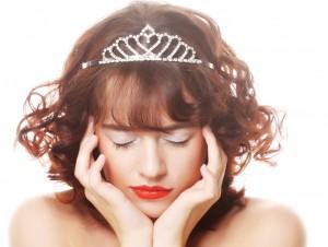 beautiful princess with diamond crown